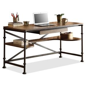 Rectangular Writing Desk with Lower Shelving