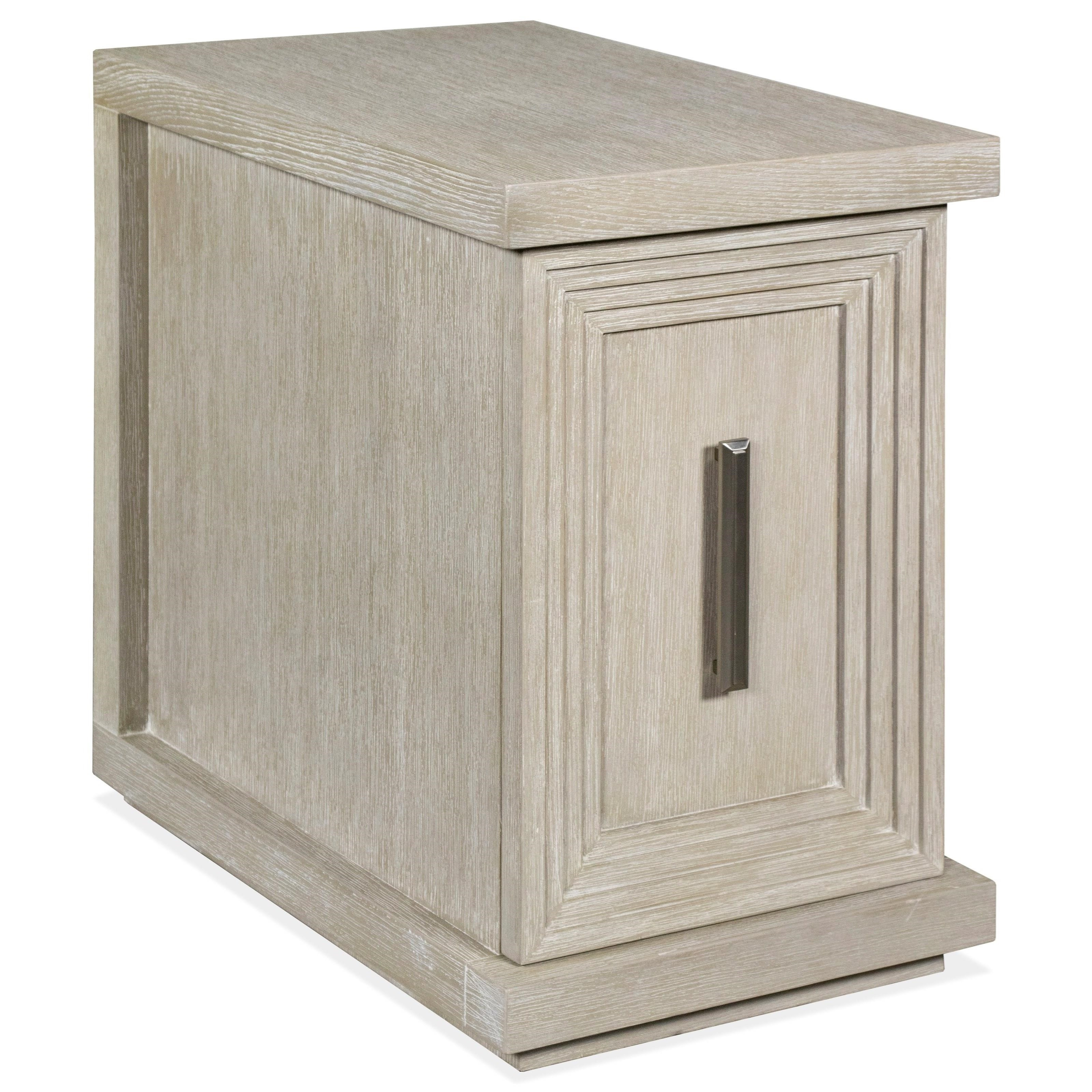 Cascade Rectangle Chairside Chest by Riverside Furniture at Zak's Home