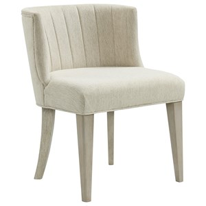 Upholstered Curved Back Side Chair
