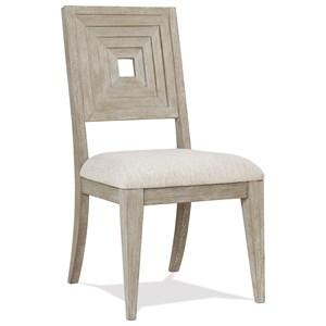 Uph Wood-Bk Sid Chair 2in