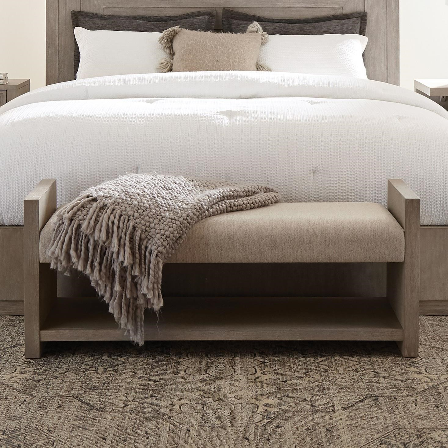 Cascade Upholstered Bed Bench by Riverside Furniture at Turk Furniture