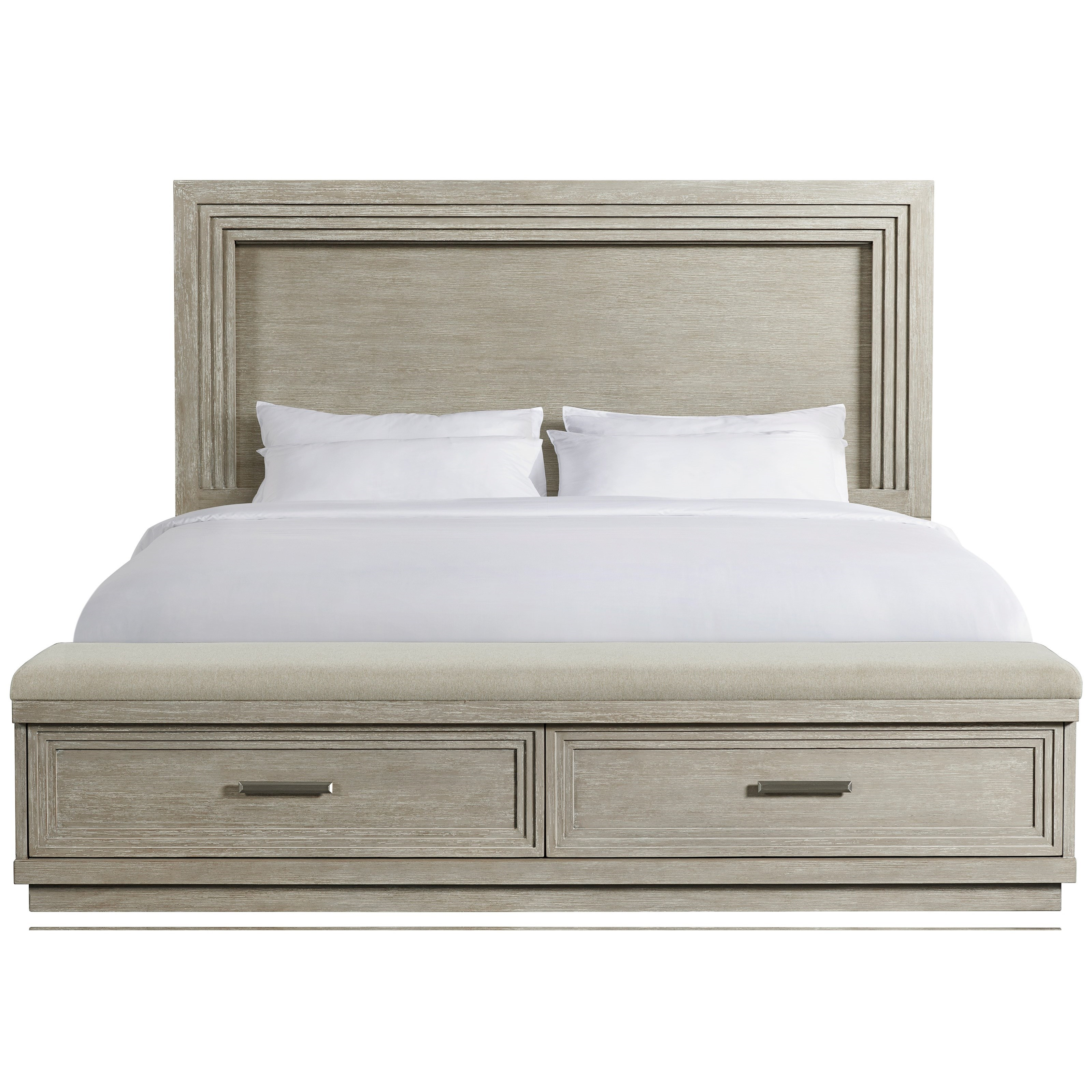 Cascade Queen Illuminated Panel Storage Bed by Riverside Furniture at Zak's Home