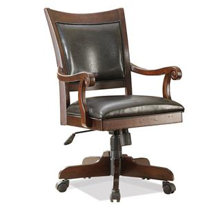 Desk Chair with 5-Star Base and Upholstered Seat and Back