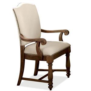 Riverside Furniture Castlewood Upholstered Dining Arm Chair