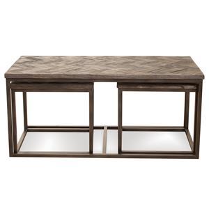 Riverside Furniture Chevron Nesting Coffee Table