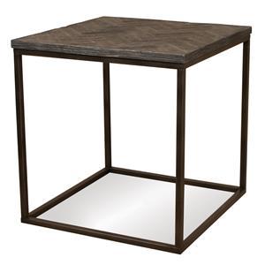 Riverside Furniture Chevron Square Side Table