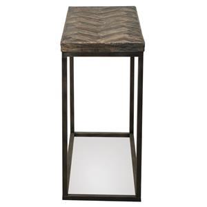 Riverside Furniture Chevron Chairside Table