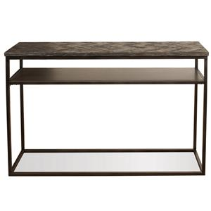 Industrial Sofa Table w/ Shelf
