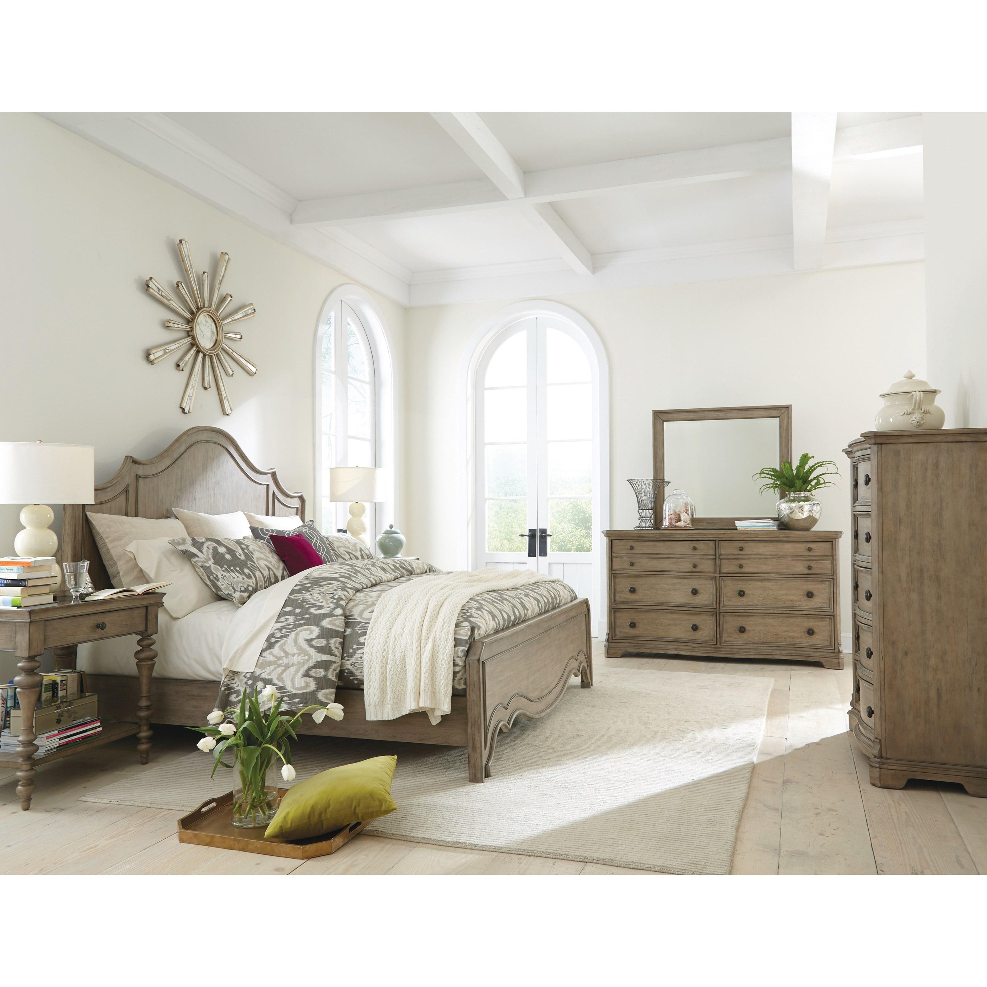 Corinne King Bedroom Group 1 by Riverside Furniture at Mueller Furniture