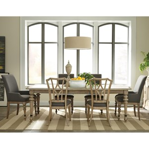 Riverside Furniture Corinne 7 Piece Table and Chair Set
