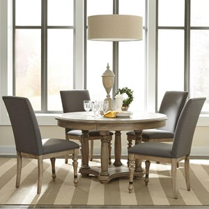 Riverside Furniture Corinne 5 Piece Table and Chair Set