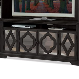 4 Door Entertainment Console in Sun-Drenched Acacia Finish