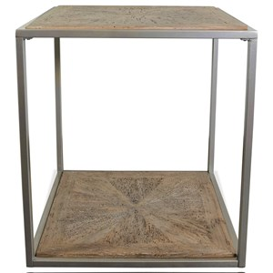 Modern Rustic Square End Table with Reclaimed Pine