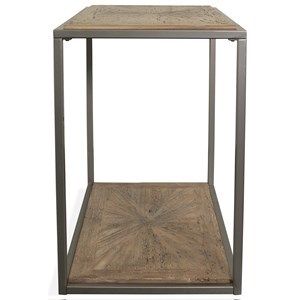 Modern Rustic Rectangle Chairside Table with Reclaimed Pine