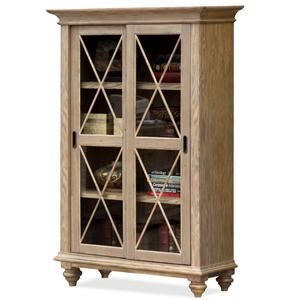 Riverside Furniture Coventry Sliding Door Bookcase