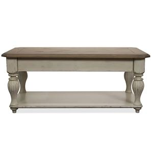 Riverside Furniture Coventry Two Tone Lift-Top Rectangular Cocktail Table