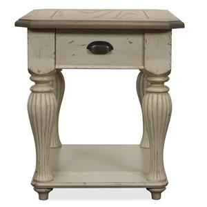 Riverside Furniture Coventry Two Tone Rectangular End Table