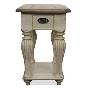 Riverside Furniture Coventry Two Tone Chairside Table