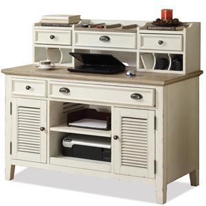 Riverside Furniture Coventry Two Tone Credenza & Small Hutch