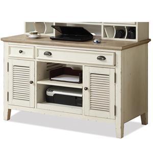Shutter Door Credenza Desk with 2 Drawers