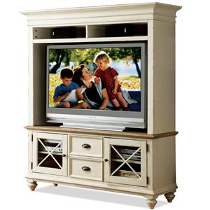 Riverside Furniture Coventry Two Tone TV Console & Hutch