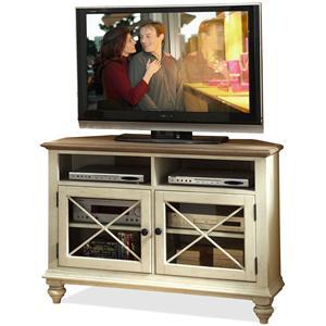 Riverside Furniture Coventry Two Tone Corner TV Console