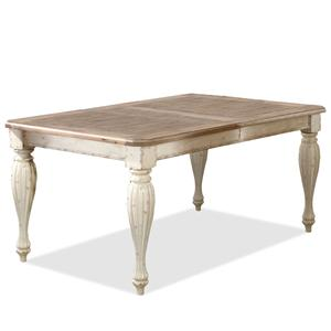"Rectangular Leg Dining Table with 18"" Leaf"