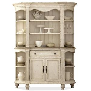 2 Door Server & Hutch with Plate Grooved Shelves
