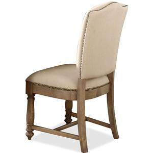 Upholstered Side Chair with Hammered Nail Head Trim