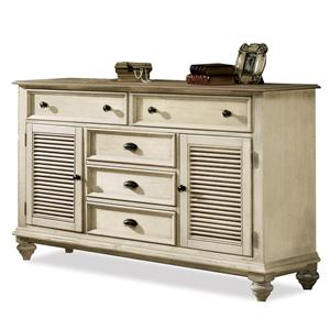 Riverside Furniture Coventry Two Tone Shutter Door Dresser