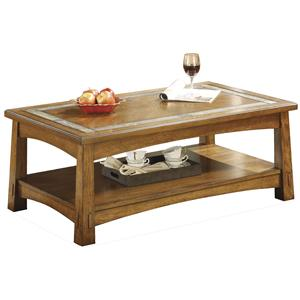 Riverside Furniture Craftsman Home Rectangular Coffee Table