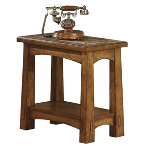 Riverside Furniture Craftsman Home Chairside Table