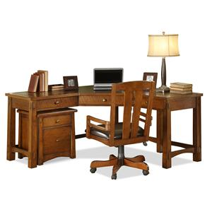 Riverside Furniture Craftsman Home Corner Desk