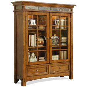 Riverside Furniture Craftsman Home Door Bookcase