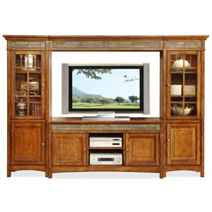 Riverside Furniture Craftsman Home Entertainment Wall Unit