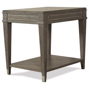Rectangle End Table with Mirrored Accents