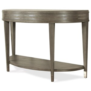 Demilune Sofa Table with Mirrored Accents