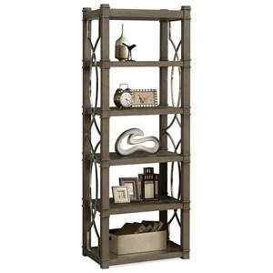 Five Shelf Etagere with Decorative Metal Lattice