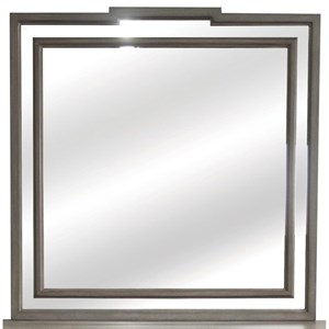 Mirror with Mirrored Border Frame