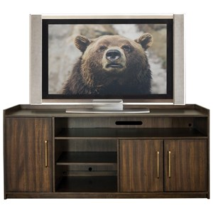 66-In TV Console with Adjustable Shelving