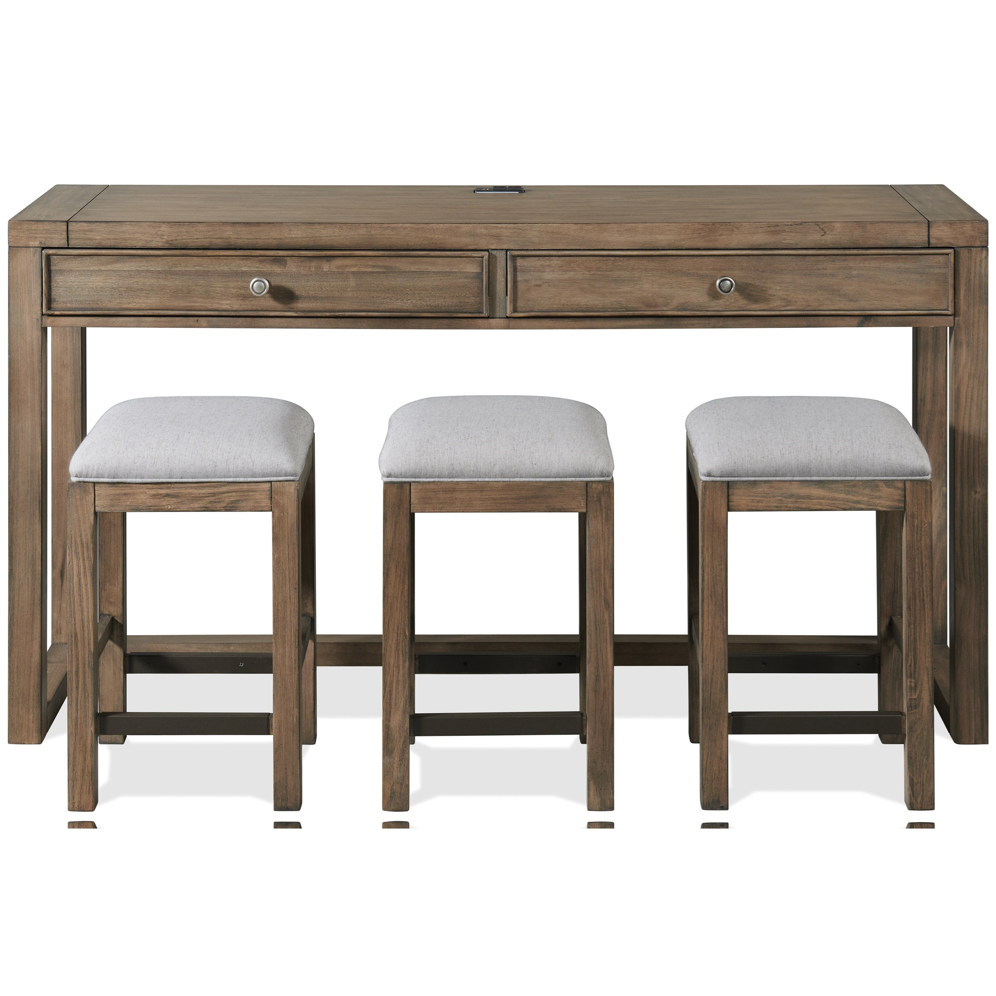 Denali Console Table with Stools  by Riverside Furniture at Mueller Furniture