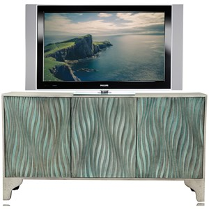 Contemporary TV Console with Wire Management