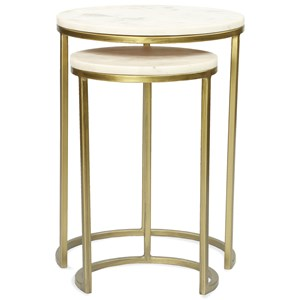 Nesting Side Tables with Marble Tops