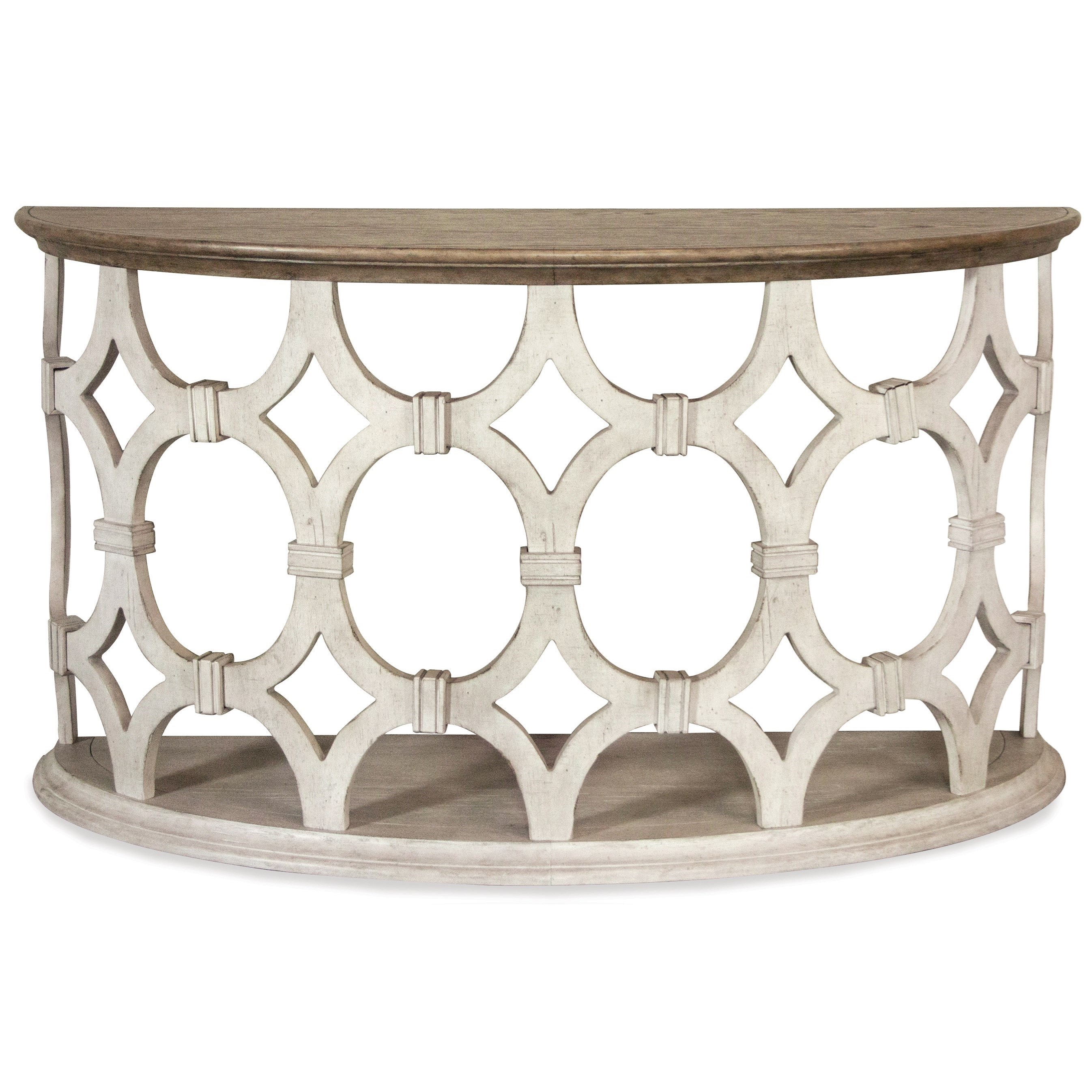 Elizabeth Demilune Sofa Table by Riverside Furniture at Darvin Furniture