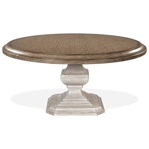 Round Dining Table with Carved Pedestal