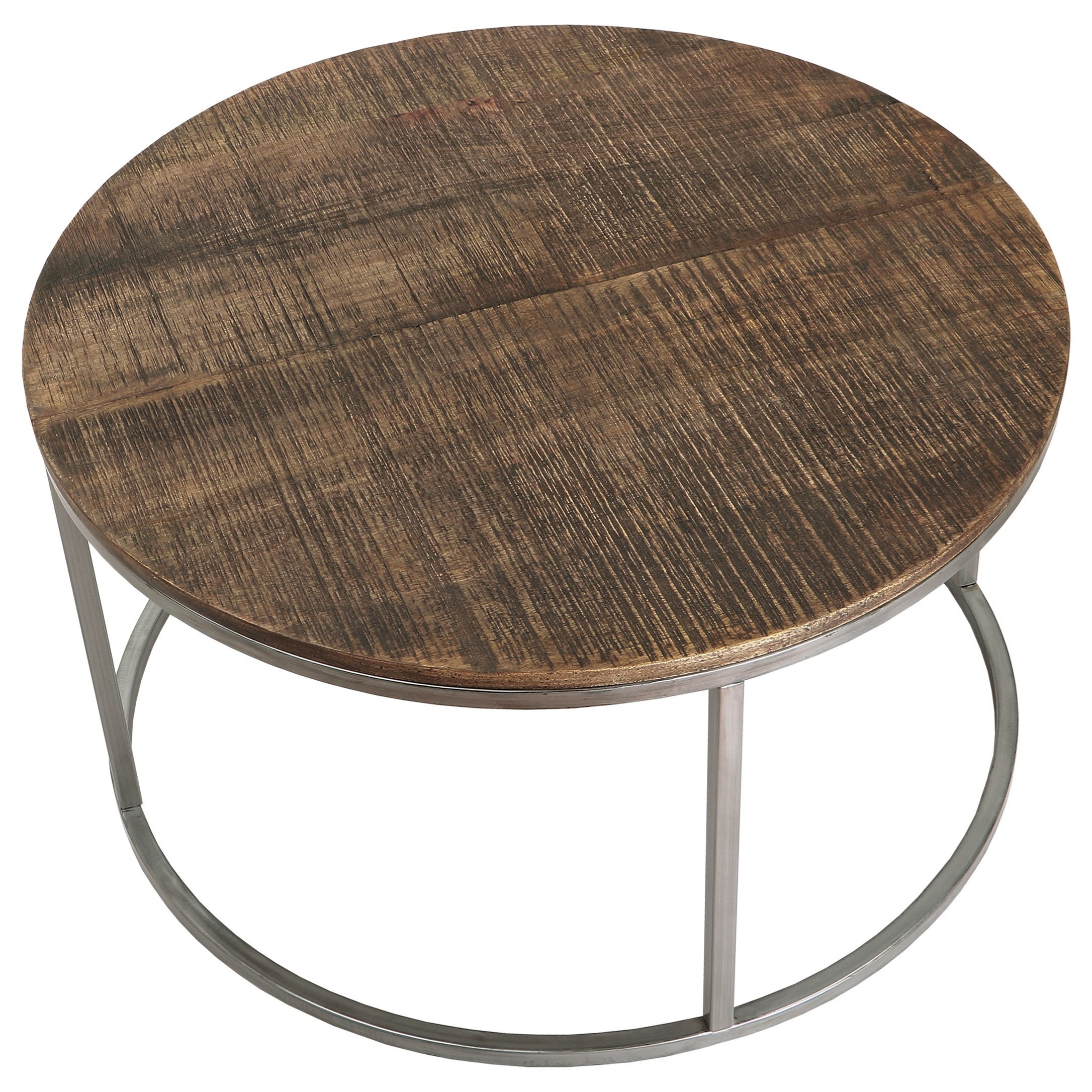 Fusion Round Cocktail Table by Riverside Furniture at Zak's Home