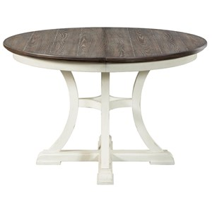 "Cottage Round Dining Table with 18"" Leaf"