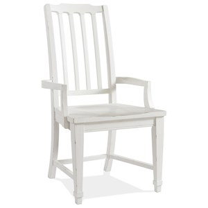 Cottage Arm Chair with Slat Back