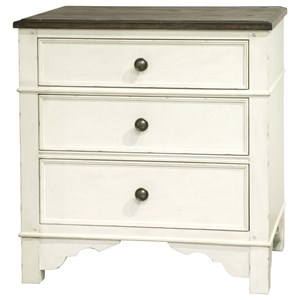 Cottage 3-Drawer Nightstand with Felt-Lining and Dual USB Charging Port