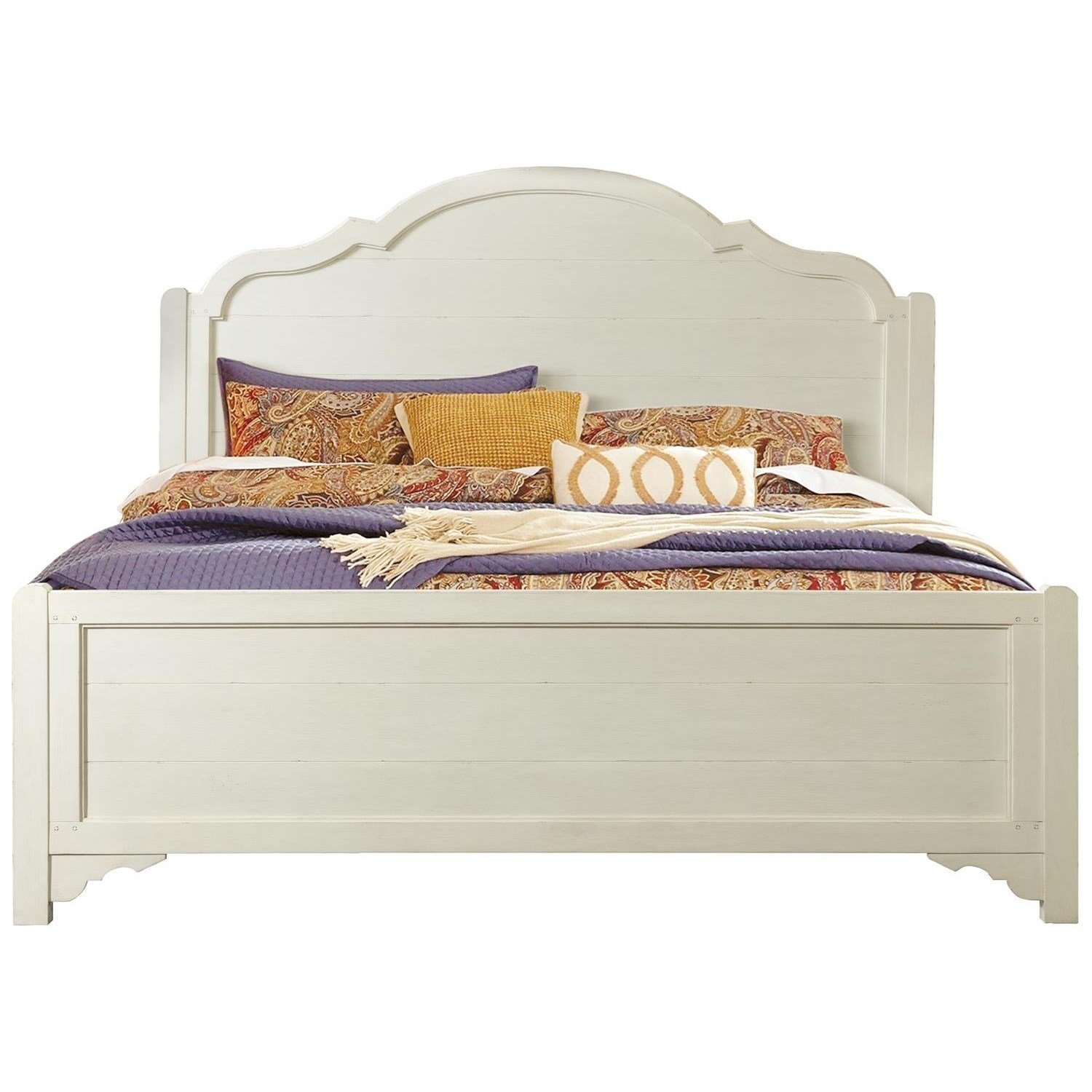 Grand Haven King Panel Bed by Riverside Furniture at Zak's Home